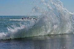 Free Seascape. Waves Show. Summer, Sea, Sun, Beach, Holiday, Fun - Black Sea, Landmark Attraction In Romania Royalty Free Stock Photography - 44838737