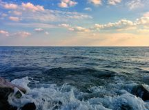 Seascape with waves Stock Images