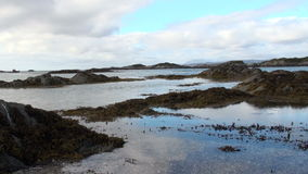 Seascape in the west highland of Scotlands stock video footage