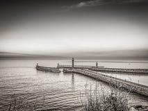 Seascape Whitby στο Γιορκσάιρ Αγγλία UK Στοκ εικόνες με δικαίωμα ελεύθερης χρήσης
