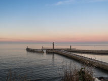 Seascape Whitby στο Γιορκσάιρ Αγγλία UK Στοκ Εικόνα