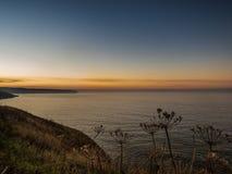 Seascape Whitby στο σούρουπο στο Γιορκσάιρ Αγγλία UK Στοκ φωτογραφίες με δικαίωμα ελεύθερης χρήσης