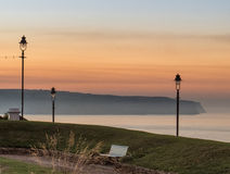 Seascape Whitby στο σούρουπο στο Γιορκσάιρ Αγγλία UK Στοκ Φωτογραφίες