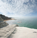 Seascape With White Cliff Royalty Free Stock Photos