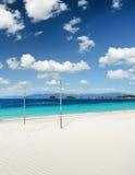 White sand beach and blue sky Royalty Free Stock Photos