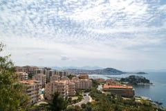 Seascape widok w miasteczku Zdjęcia Royalty Free