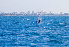 Seascape with the windsurfer Royalty Free Stock Image