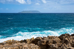 Seascape on a windy day at Pointe des Chateaux in Guadeloupe. Seascape on a windy day at cape Pointe des Chateaux in Guadeloupe Royalty Free Stock Photography
