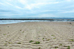 Seascape With Sand Ripples Royalty Free Stock Images