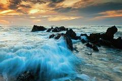 Seascape wschód słońca Fotografia Royalty Free