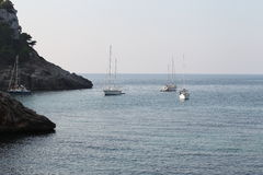 Seascape with yacht Stock Photo