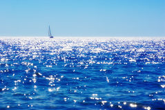 Seascape with yacht Stock Image