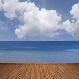 Seascape z chmurami Obrazy Stock