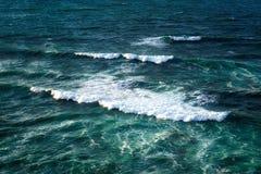 Seascape z fala na szorstkim morzu Zdjęcia Stock