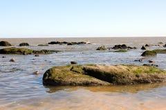 Seascape z kamieniami Fotografia Stock