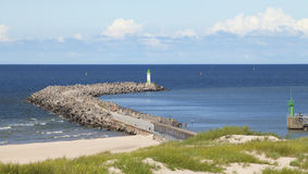 Seascape z latarnią morską Obrazy Royalty Free