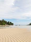 Seascape z pięknym białym piaskiem Obraz Royalty Free