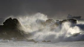 Seascape z pięknym burzy światłem obraz royalty free