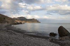 Seascape z skalistym brzeg Fotografia Royalty Free