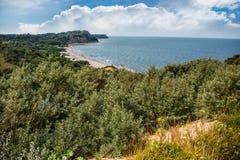 Seascape z stromymi bankami Obraz Royalty Free