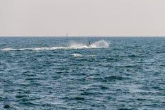 Seascape z watercraft na wodzie zdjęcia stock