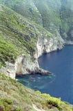 Seascape in Zakynthos near the Navagio bay Royalty Free Stock Photography