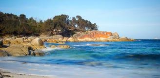 Seascape zatoka ogienie Tasmania Obrazy Stock