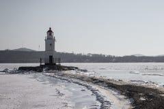 Seascape, zimny morze zdjęcia royalty free