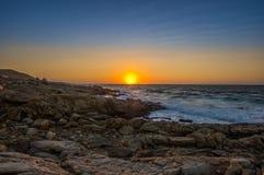 Seascape zmierzch Crete, Grecja Obrazy Stock