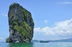 Seascapebakgrund från söder av Thailand Royaltyfri Fotografi