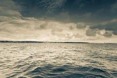 Seascapehavshorisont och himmel Arkivfoton