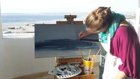 Seascapekonstnär Arkivbilder