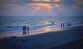 SeascapeRayong strand Arkivbilder