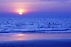 SeascapeRayong strand Arkivbild