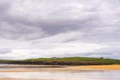Seascapes пляжа Eoropie, остров Левиса, Шотландии стоковая фотография