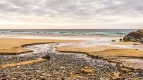 Seascapes пляжа Eoropie, остров Левиса, Шотландии стоковое фото rf