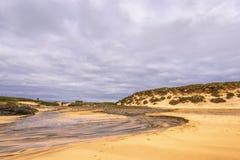 Seascapes пляжа Eoropie, остров Левиса, Шотландии стоковое фото