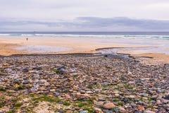 Seascapes пляжа Eoropie, остров Левиса, Шотландии стоковое изображение rf