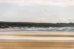 Seascapes пляжа Eoropie, остров Левиса, Шотландии стоковые фото
