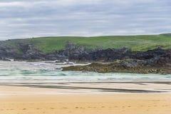 Seascapes пляжа Eoropie, остров Левиса, Шотландии стоковые фотографии rf