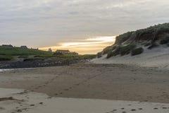 Seascapes пляжа Eoropie, остров Левиса, Шотландии стоковые изображения