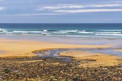 Seascapes пляжа Eoropie, остров Левиса, Шотландии стоковые изображения rf