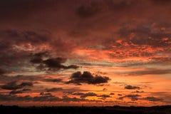 Seascapes с изумительными облаками стоковые фотографии rf