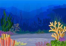 Seascapes concept. Ocean and underwater world. Vector illustration. Seascapes concept. oral reef, ocean and underwater world. Vector flat illustration royalty free illustration