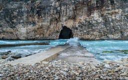 Dwejra inland sea Gozo royalty free stock photos