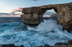 Azure window Dwejra stock photos