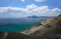 Seascapes eastern Crimea. Summer seascapes eastern Crimea, Ukraine royalty free stock photos