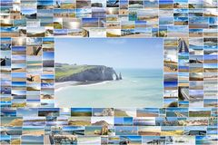 Seascapes in France Royalty Free Stock Photo