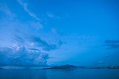 Seascapesikt av den Manado stranden Indonesien Royaltyfria Foton