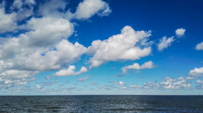Seascapesikt av den stora sjön Royaltyfria Bilder
